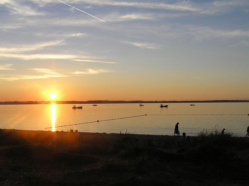 Zatoka Pucka - zachód słońca