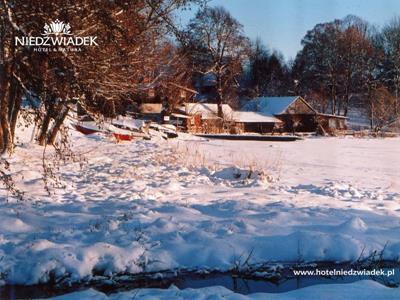 Zima we Wdzydzach