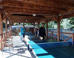 stół do tenisa pod wiatą