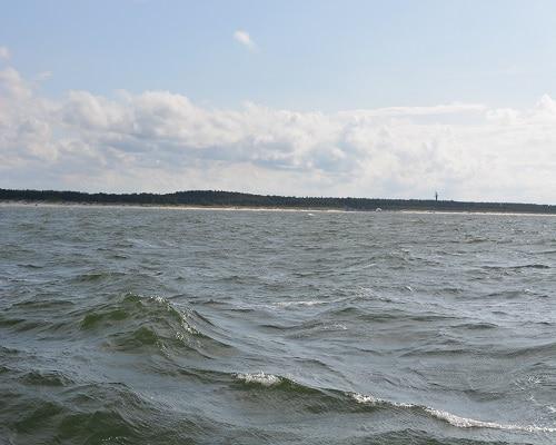Widok na plażę z Bałtyku