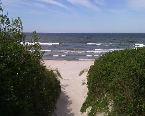 Krynica Morska - wejście na plażę
