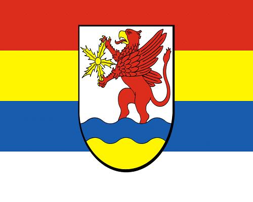 Flaga gminy Ustronie Morskie