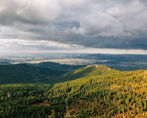 Karkonosze -widok na góry