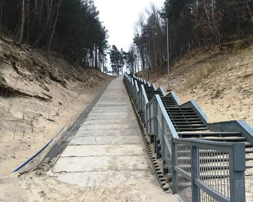 Schody nad morze - Jastrzębia Góra