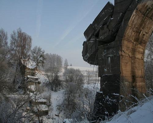 """Kruklanki - """"zwalony most"""" nad Sapiną"""