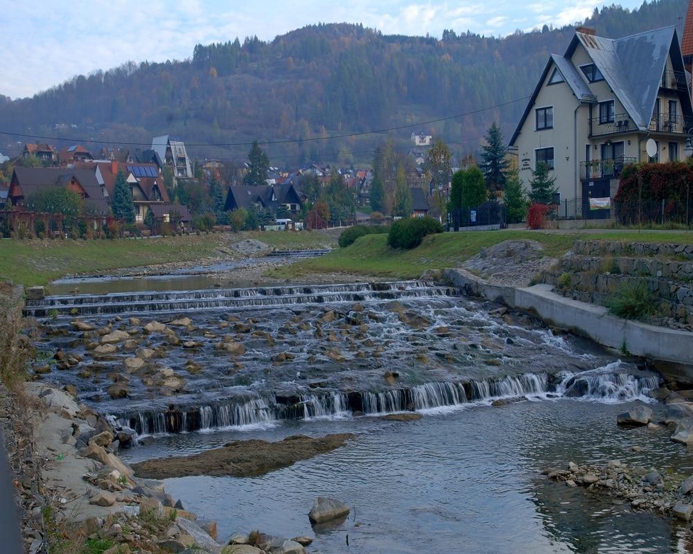 Potok Grajcarek w Szczawnicy