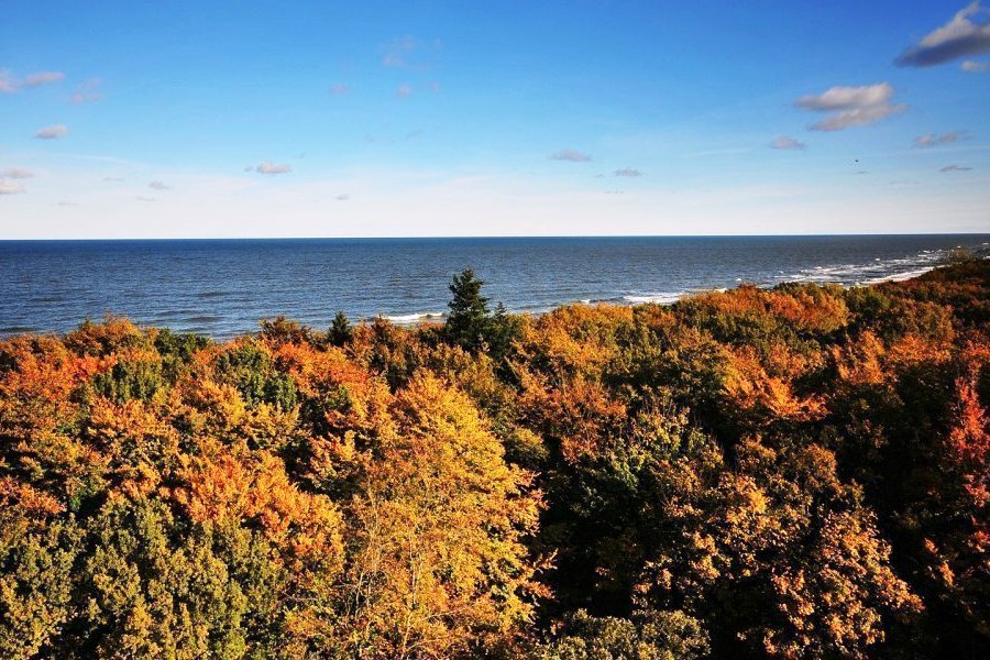 Widok na morze z platformy widokowej Perły Bałtyku