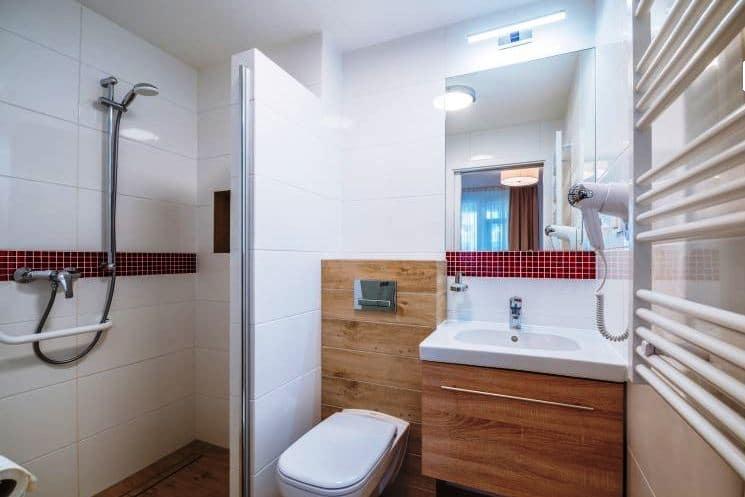 Łazienka w ośrodku Dozamel